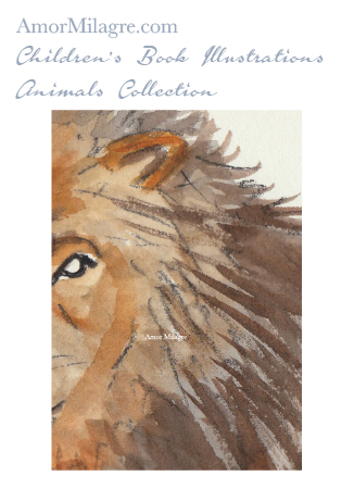 Amor Milagre Children's Book Animals Illustrations The Lion 1 beautiful for all spaces and ages, especially in a nursery amormilagre.com