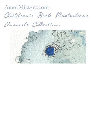 Children's Book Illustrations Animals The Squiggly Blue Elephant 2 Amor Milagre amormilagre.com