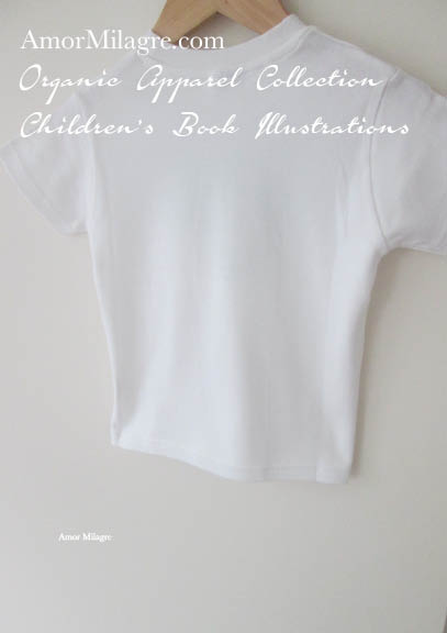 Amor Milagre Back Organic Cotton Toddler Graphic Tee Shirt Collection Children's Book Unisex amormilagre.com baby