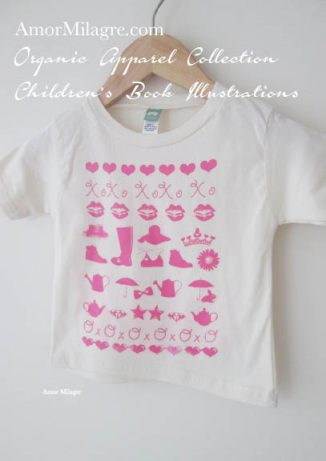 Amor Milagre Pink Girls 1 Organic Cotton Toddler Graphic Tee Shirt Collection Children's Book Unisex amormilagre.com baby