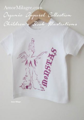 Amor Milagre Purple Monster Monstas Book Halloween Organic Cotton Toddler Graphic Tee Shirt Collection Children's Book Unisex amormilagre.com baby