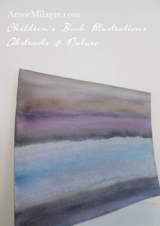 Amor Milagre Ocean Breath Blue Purple Grey Color Nature Paintings Watercolor Abstract The Shop at Dove Cottage Children's Book Illustrations beautiful for all spaces ages, nursery amormilagre.com
