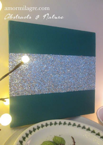 Amor Milagre Forest Green Silver Glitter Nursery Painting 3 Baby & Child original artwork amormilagre.com