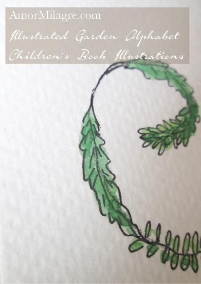 Amor Milagre Illustrated Garden Alphabet Letter P amormilagre.com