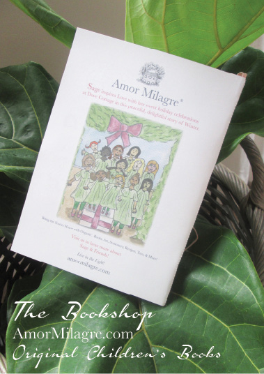 Amor Milagre Presents Sage in Winter 11 holiday Ethical Bookshop organic original children's book girls Baby & Child amormilagre.com