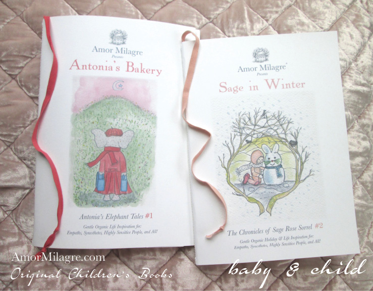 Amor Milagre Presents Sage in Winter 1 holiday Ethical Bookshop organic original children's book girls Baby & Child peaceful loving stories girls boys Christmas Winter Solstice Hanukkah Kwanzaa amormilagre.com