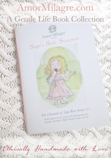 Amor Milagre Presents Sage's Soft Summer nursery knit blanket ethical organic original children's book amormilagre.com nursery bookshop strawberry baby doll Hazel memories vegan girls