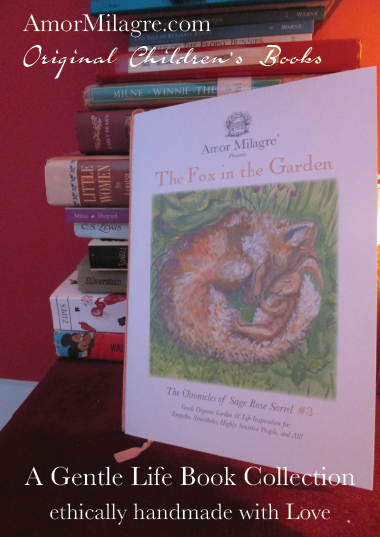 Amor Milagre Presents The Fox in the Garden ethical organic original children's book amormilagre.com nursery bookshop