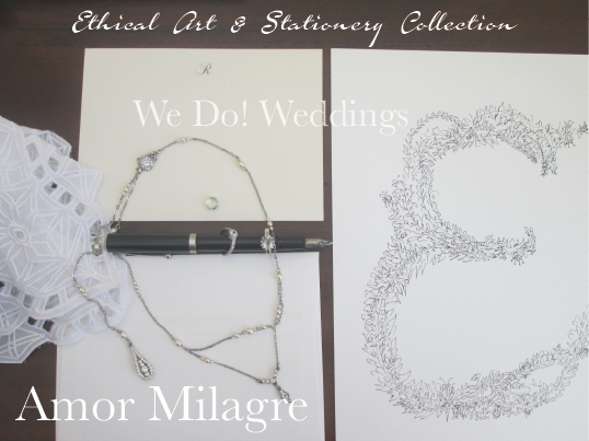 Amor Milagre Ethical Stationery Collection & Sets amormilagre.com Paperie personalized stationery greeting card art letter E jewelry weddings gifts invitations thank yous