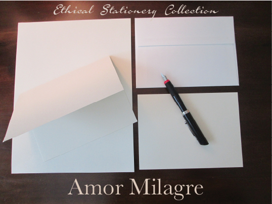 Amor Milagre Ethical Stationery Collection & Sets amormilagre.com Paperie personalized stationery recycled set