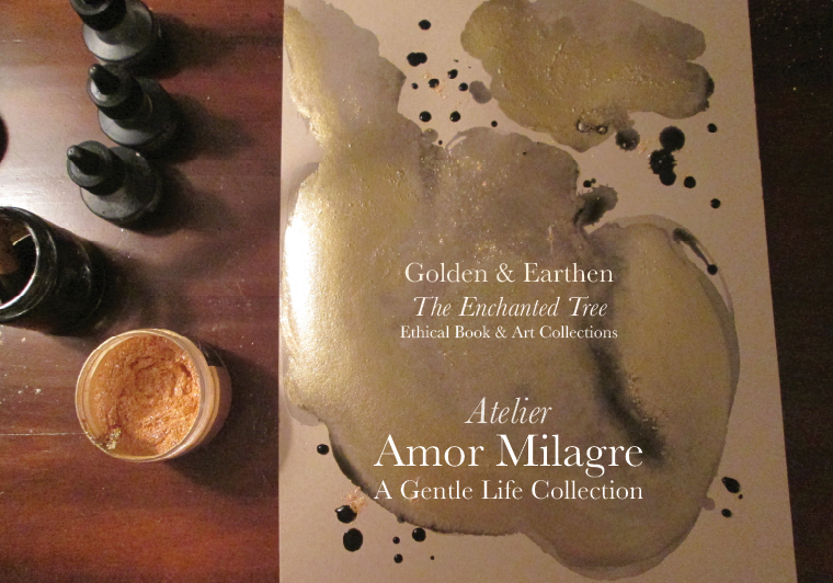 Amor Milagre Shop Golden Mother & Baby Child Dance in the Wind Night Painting Watercolour Golden & Earthen The Enchanted Tree New Children's Book & Art Collection Autumn 2019 amormilagre.com