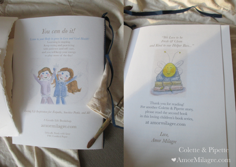 Amor Milagre Colette & Pipette Won't Use the Toilet New Ethically Handmade Children's Book Bee amormilagre.com