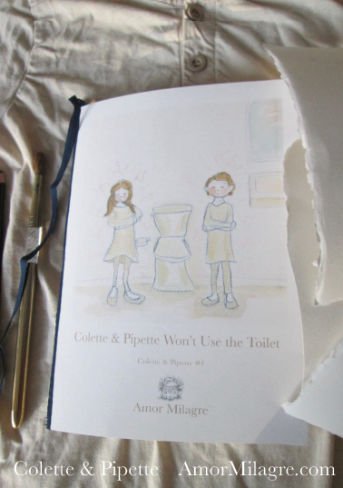 Amor Milagre Colette & Pipette Won't Use the Toilet New Ethically Handmade Children's Book Front Cover 1 amormilagre.com