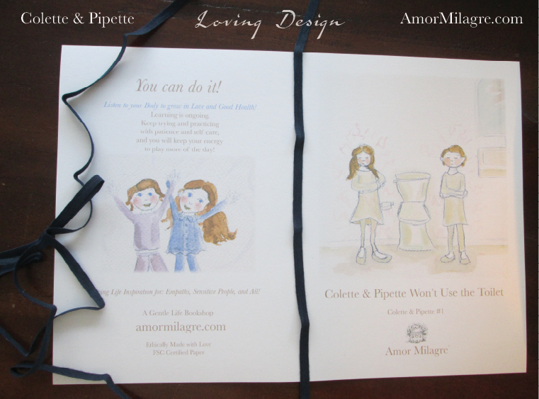 Amor Milagre Colette & Pipette Won't Use the Toilet New Ethically Handmade Children's Book covers amormilagre.com