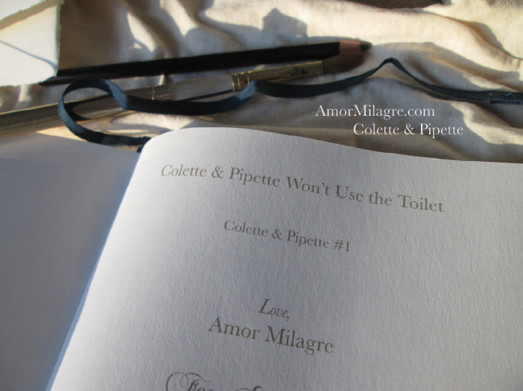 Amor Milagre Colette & Pipette Won't Use the Toilet New Ethically Handmade Children's Book title amormilagre.com
