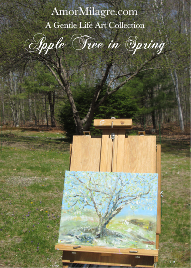 Amor Milagre Presents Apple Tree in Spring Oil Painting, Art Prints, Greeting Cards amormilagre.com