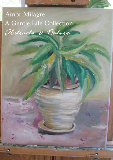 Amor Milagre Sunny Potted Poinsettia Oil Painting, Art Prints, Cards amormilagre.com